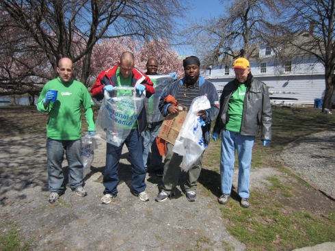 All the way from Dorchester, this group helped us last year, too!