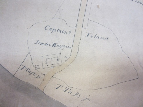Detail from a Plan of Cambridgeport Parish, by Peter Tufts, Jr., Surveyor and Powder Magazine Keeper, 1824. Courtesy of the Cambridge Historical Commission.