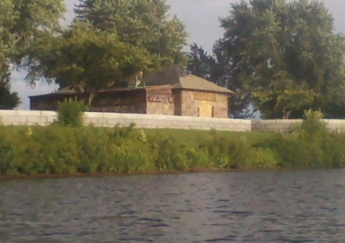 The powder magazine from the river. Photo courtesy of Craig Kelley.