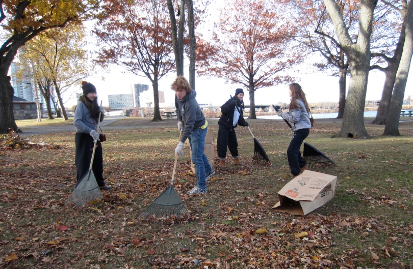 About 10 CRLS students raked!