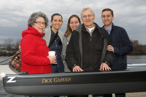 Riverside Boat Club names an 8-person scull after our own Dick Garver