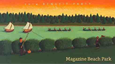 Painting, Magazine Beach, by Cambridgeport artist Jeff Gardner