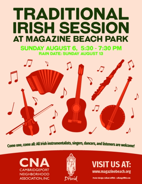 Traditional Irish Session Poster - Low Quality 72 ppi