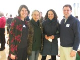Exhibit developers Cathie Zusy and Marilyn Wellons w/ Jay Livingstone and neighbor