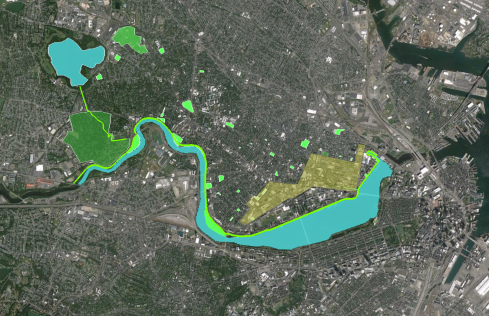 Cambridge and the Charles River Basin. The river parklands are our Central Park; our connection with nature.