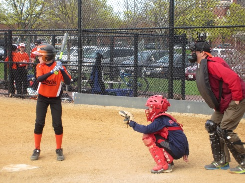 Cambridge Central's Little League played at the park May, 1st.