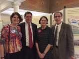 Rep. Livingstone and fans at the exhibit opening. L to R: Cathie Zusy, Rep. L., Decia Goodwin and David Torrey