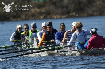 The winning mixed eight at the Crusher Casey Challenge.
