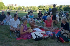 Picnickers enjoying the longest day of the year!!!! And the music....