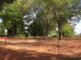 The new picnic area has been seeded. (The broken wading pool is gone!)