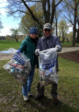 Andy and Jane are longtime MB dog walkers and guardians of the park.